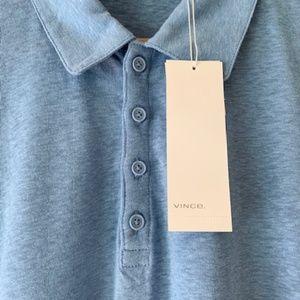 "VINCE NWT Men's ""Sky Blue"" Polo Shirt"